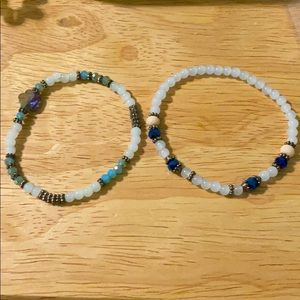 Beaded Bracelets, Set of 2